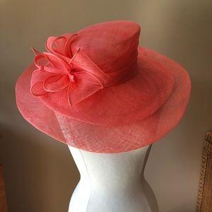 Kakyco Sinamay Hat (Peachy Pink)